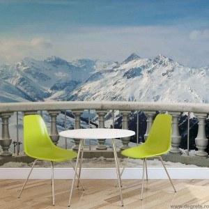 Fotografie tapet Panorama in munti