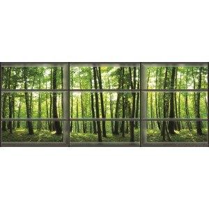 Fotografie tapet Panorama spre padure 3D 3XL Vlies