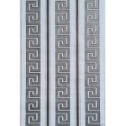 Tapet hartie Versace alb-argintiu