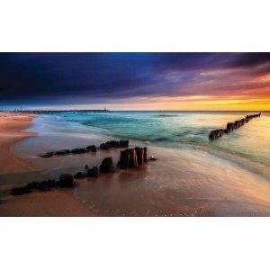 Fotografie tapet Rasarit la mare