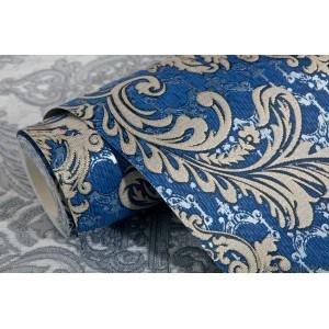 Tapet vinil Lux Baroc Albastru