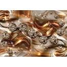 Fotografie tapet Diamant portocaliu 3D