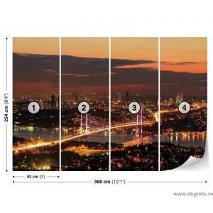 Fotografie tapet Luminile din Bosfor XL