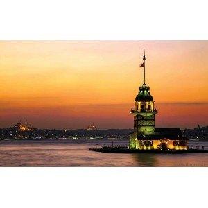 Fotografie tapet Turnul Maiden din Istanbul