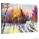 Tablou Canvas Iarna - peisaj padure L