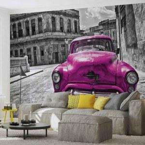 Fotografie tapet Masina veche violet