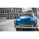 Fotografie tapet Masina veche albastra