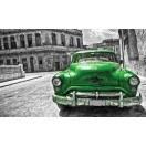 Fotografie tapet Masina veche verde