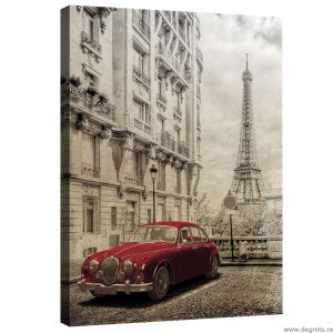 Tablou Canvas Paris - Masina retro
