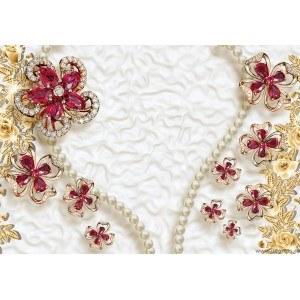Fotografie tapet Diamante, perle si aur 3D L
