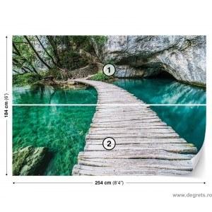 Fotografie tapet Pod peste laguna 3D L