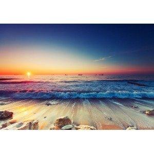 Fotografie tapet Apus la mare 2