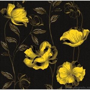 Tapet hârtie Essays negru-grafit-galben