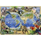 Fotografie tapet Harta lumii - Animale 1
