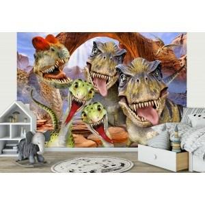Fotografie tapet Dinozauri - Selfie 1 3D
