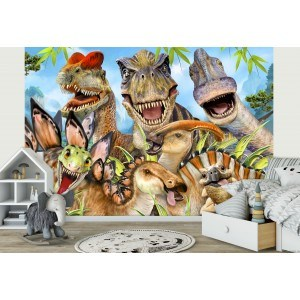 Fotografie tapet Dinozauri - Selfie 2 3D