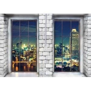 Fotografie tapet Megapolis - panorama 1 XL