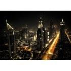 Fotografie tapet Megapolis noaptea