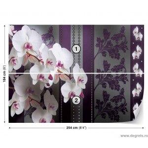 Fotografie tapet Orhidee eleganta 2 3D L