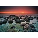 Fotografie tapet Apus la mare 1