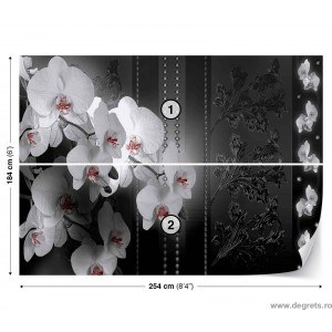 Fotografie tapet Orhidee 3D Abstractie