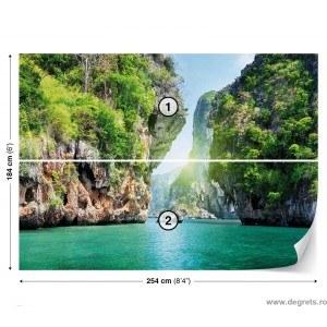 Fotografie tapet Laguna 3D
