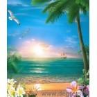 Fotografie tapet Apus de soare la mare