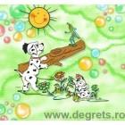 Tapet hârtie Dalmatian verde