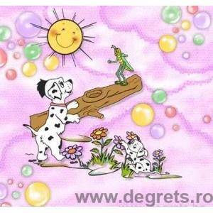 Tapet hârtie Dalmatian roz