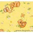Tapet hârtie Ursulet de plus galben