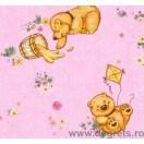 Tapet hârtie Ursulet de plus roz