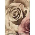 Tapet PVC Trandafiri închis bej