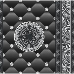 Tapet hartie Eileen 3D negru-argintiu