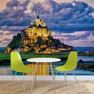 Fotografie tapet Franta - Mont Saint Michel