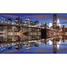 Fotografie tapet Podul Brooklyn noaptea L