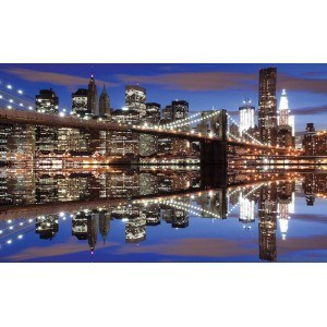 Fotografie tapet Podul Brooklyn noaptea XL