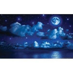 Fotografie tapet Noaptea pe mare