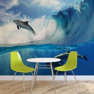 Fotografie tapet Delfini in mare