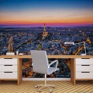 Fotografie tapet Apus peste Paris