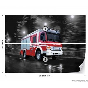 Fotografie tapet Masina de pompieri