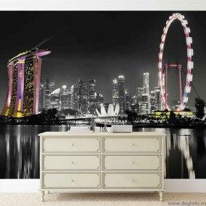 Fotografie tapet Linia cerului Singapore