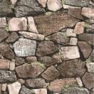 Tapet impermeabil Zid de piatra 3D maro