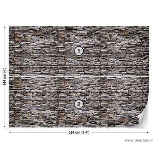 Fotografie tapet Perete de piatra 1 3D L