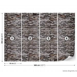 Fotografie tapet Perete de piatra 1 3D XL