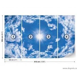 Fotografie tapet Nori pe cer 3D 2XL Vlies