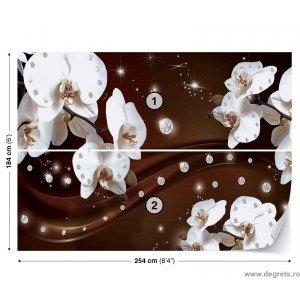 Fotografie tapet Abstractie orhidee 1 3D