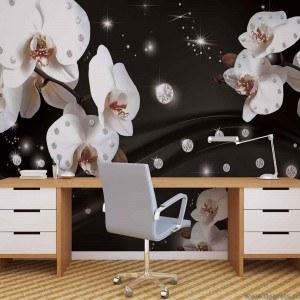 Fotografie tapet Abstractie orhidee 2 3D L