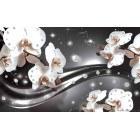 Fotografie tapet Abstractie orhidee 3 3D L