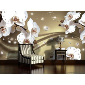 Fotografie tapet Abstractie orhidee 5 3D L