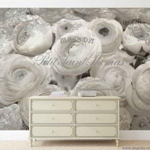 Fotografie tapet Trandafiri rosii - Vechi 3D